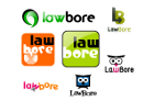 A few Lawbore logo prototypes that never made it